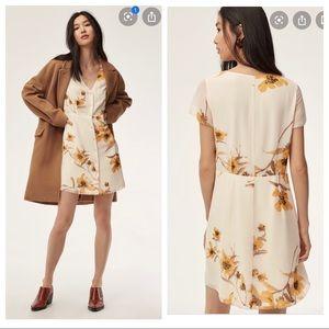 Aritzia Wilfred Floral Nazaire Dress